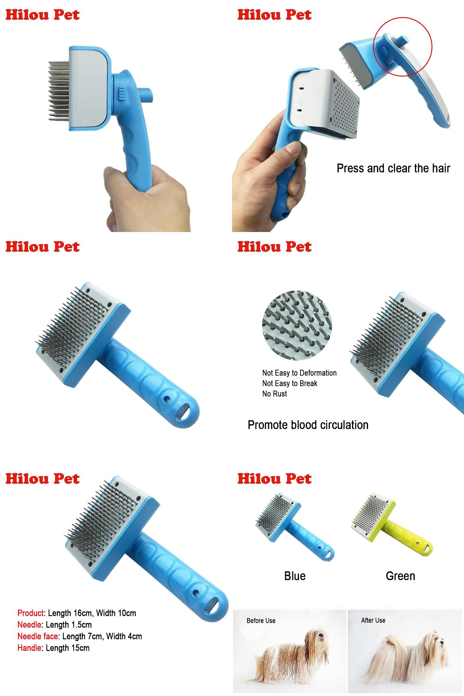 Visit To Buy Self Clean Dog Brush Puppy Hair Fur Grooming Shedding Comb Tool For Long Short Hair Dogs And Cats 2 Co Dog Brushing Dog Cat Long To Short Hair