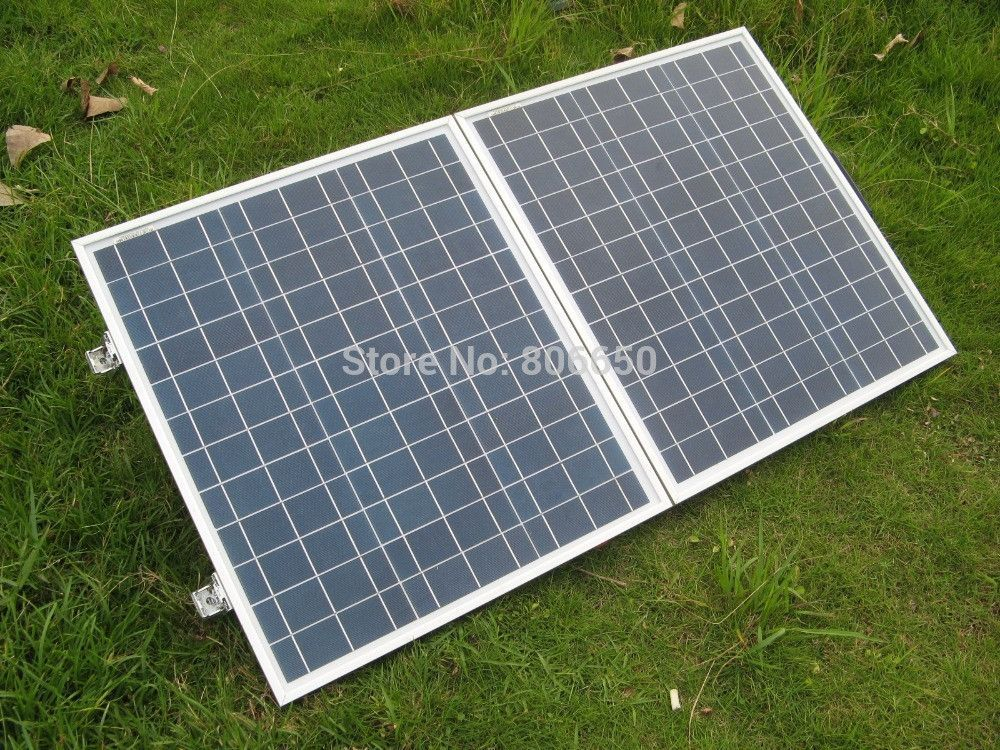 80w 18v Poly Portable Folding Solar Panel For Rv Camping Or Boating Camping Solar Rv