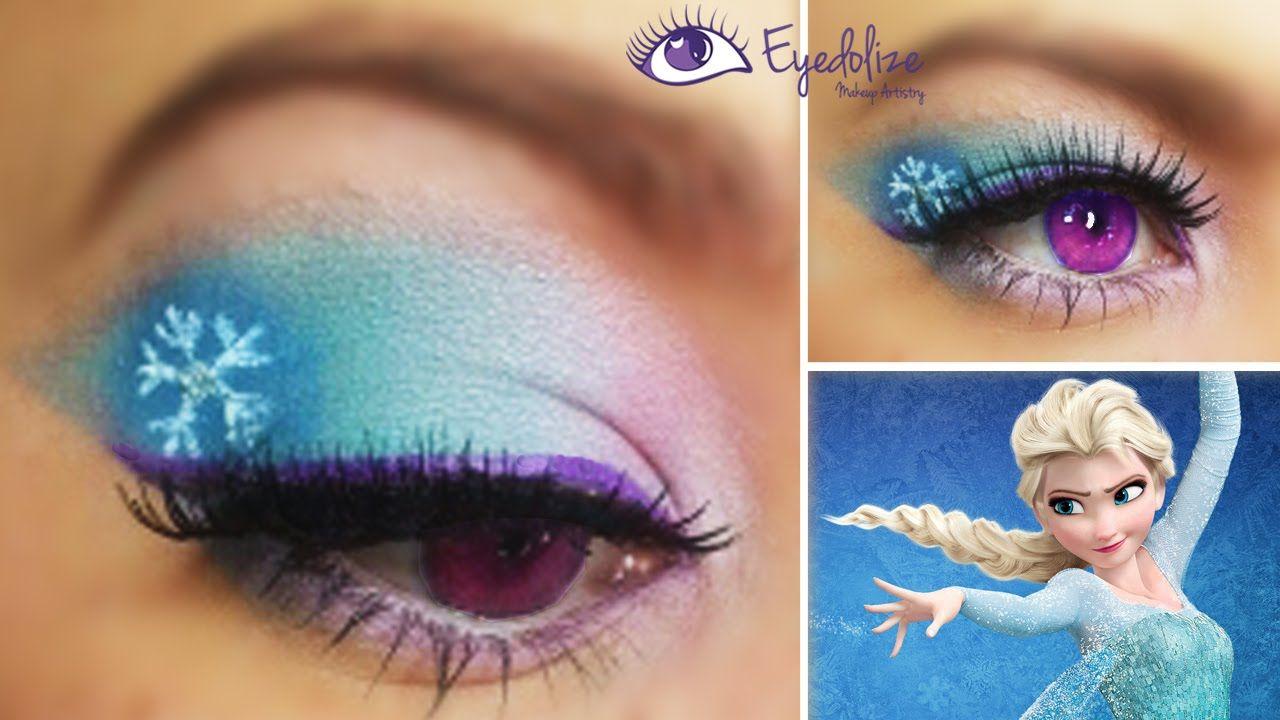 Elsa Inspired Eye Makeup Disney Eye Makeup Disney Makeup Disney Inspired Makeup
