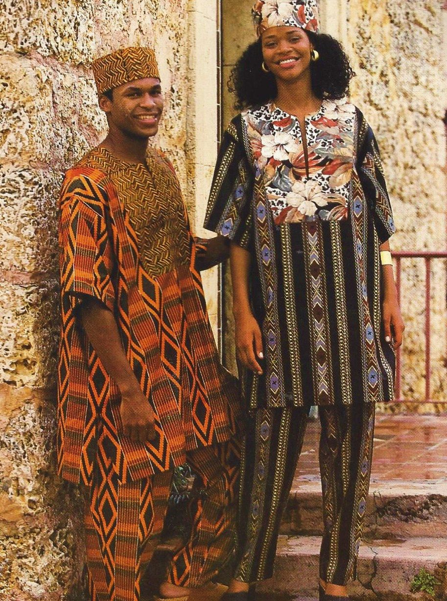 90s Mens or Womens Dashiki Tunic Top, Pants and Hat Simplicity ...