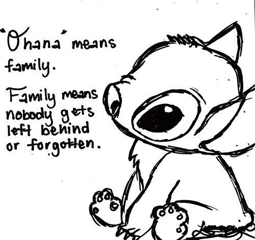 ohana coloring pages Sad Stitch Coloring Pages Ohana | stitch | Tattoos, Family tattoos  ohana coloring pages