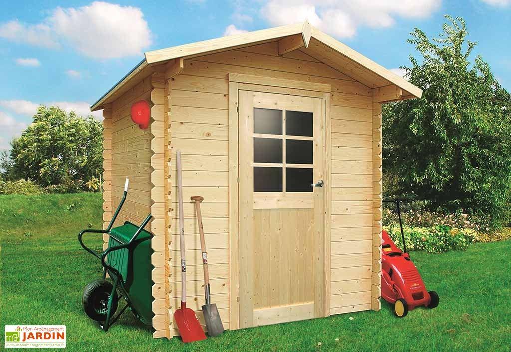 Lu0027abri de jardin en bois possède des parois de 19mm Sa structure