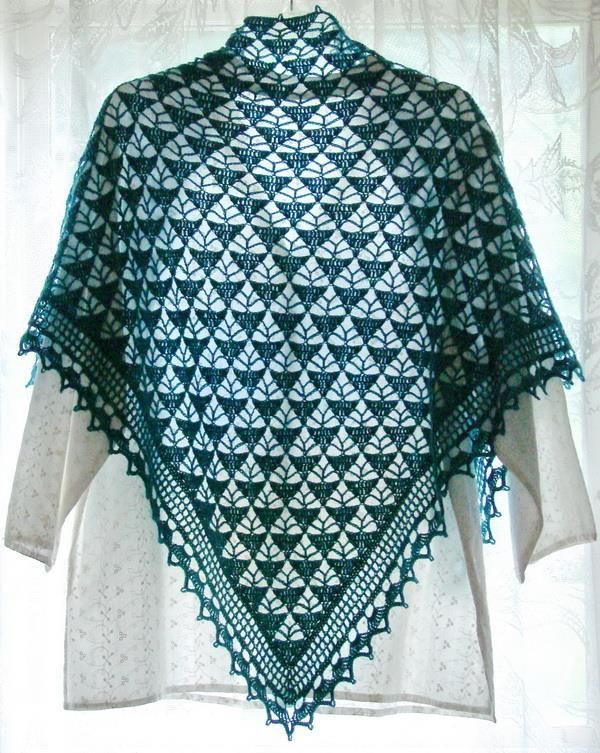 Crochet Shawl Pattern - Foulard de soie (Stylish Easy Crochet ...