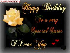 Sister Birthday Greeting for Facebook | Facebook Happy Birthday Sister Scraps FB Status