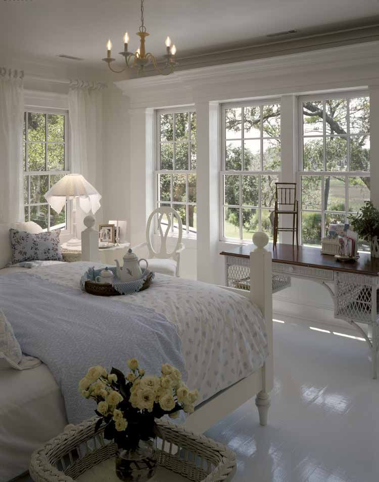 What a great place to wake up!  Loving the all white decor.