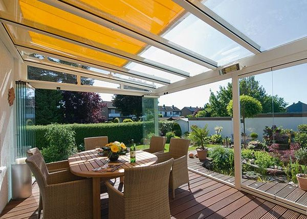 Beau Love The Idea Of Retractable Glass With A Bright Awning!