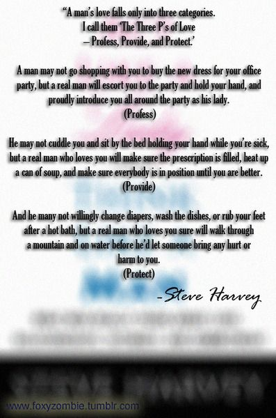 How to tell if a man loves you steve harvey