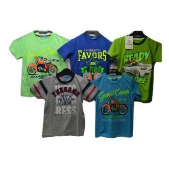 f09d64ab36f Παιδικά κοντομάνικα μπλουζάκια γιά αγόρια 3-12 ετών | Χονδρική ...