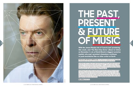 NME's facelift - so amazing Bowie article in 2013 oct NME