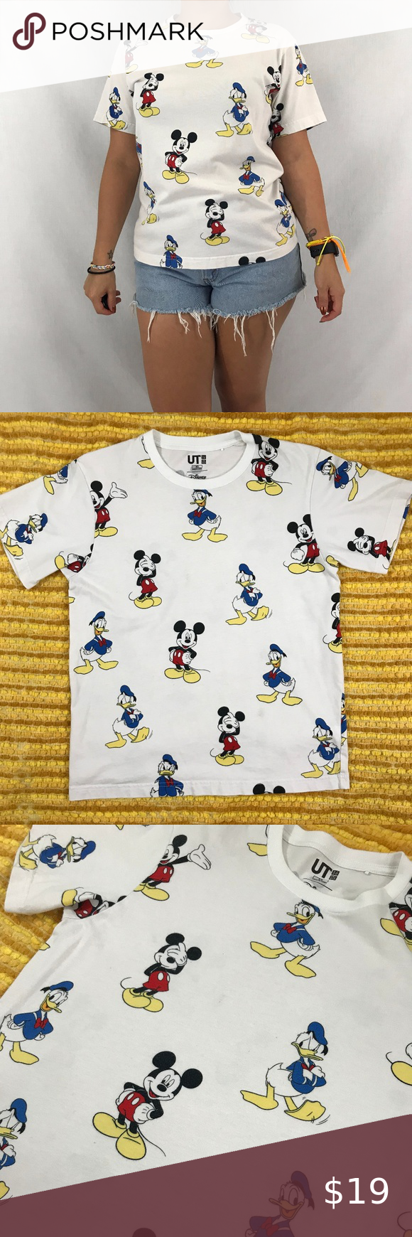 Mickey Mouse Donald Duck Tee Mens Shirts Brands Mickey Mouse Donald Duck Tees