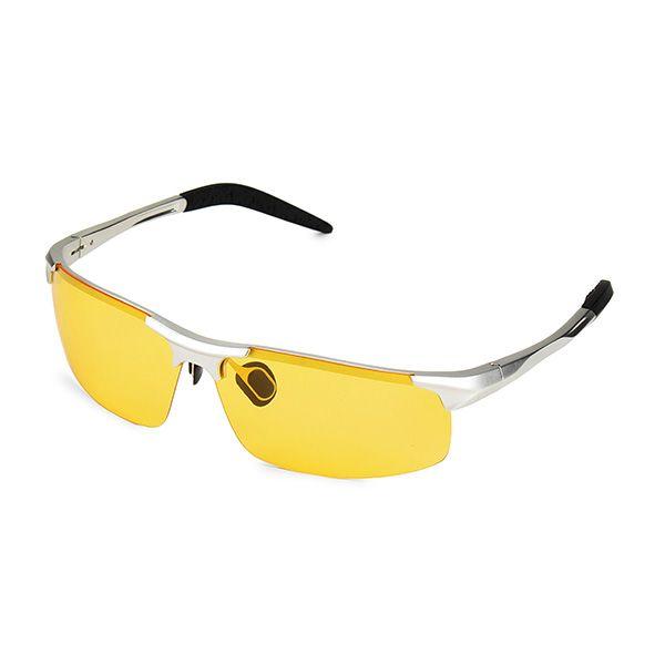 polarized sunglasses for men fishing  UV400 Men Polarized Sunglasses Yellow Lens Night VISION Driving ...