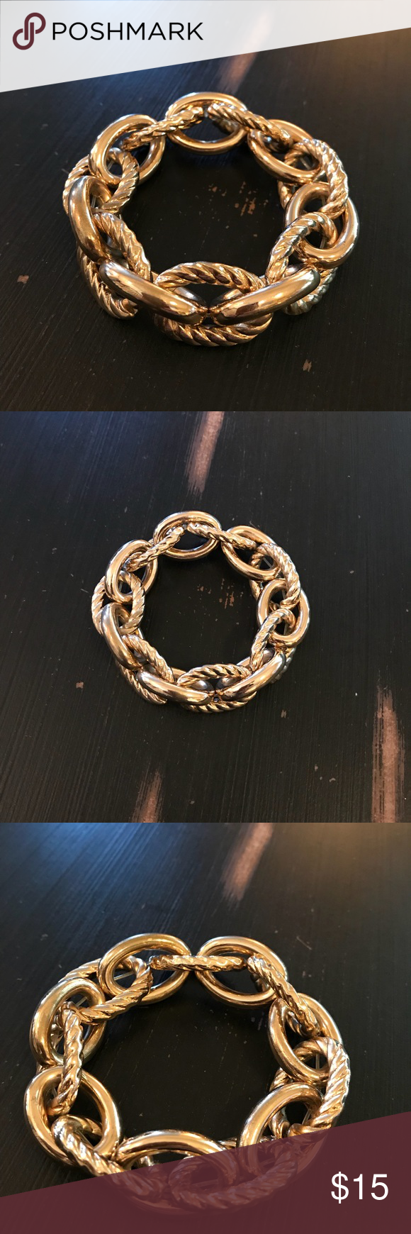 Chunky gold rope bracelet jewelry bracelets conditioning and