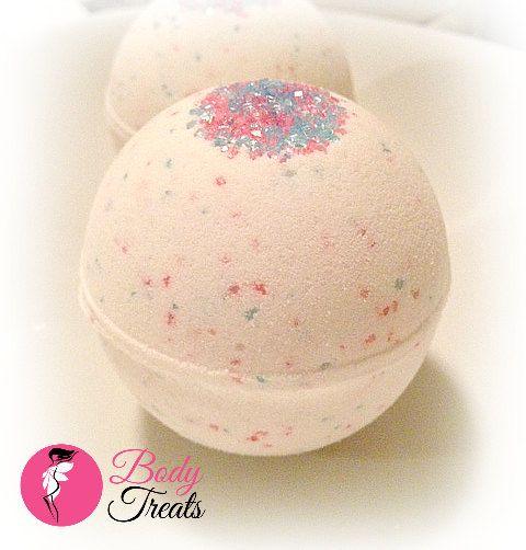 Peppermint Candy Bath Bomb Fizzy Party Favors by BodyTreatsHomeSpa