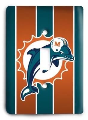 Miami Dolphins 11 Light Switch Cover in 2020 Light