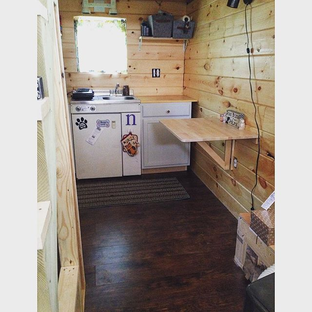 Yay! Real floors! And stairs! #tinyhouse #tinyhousemovement by kaylacnadeau