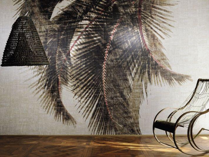 Tapete Palmen palmen tapete aus der raffia madagascar kollektion elitis