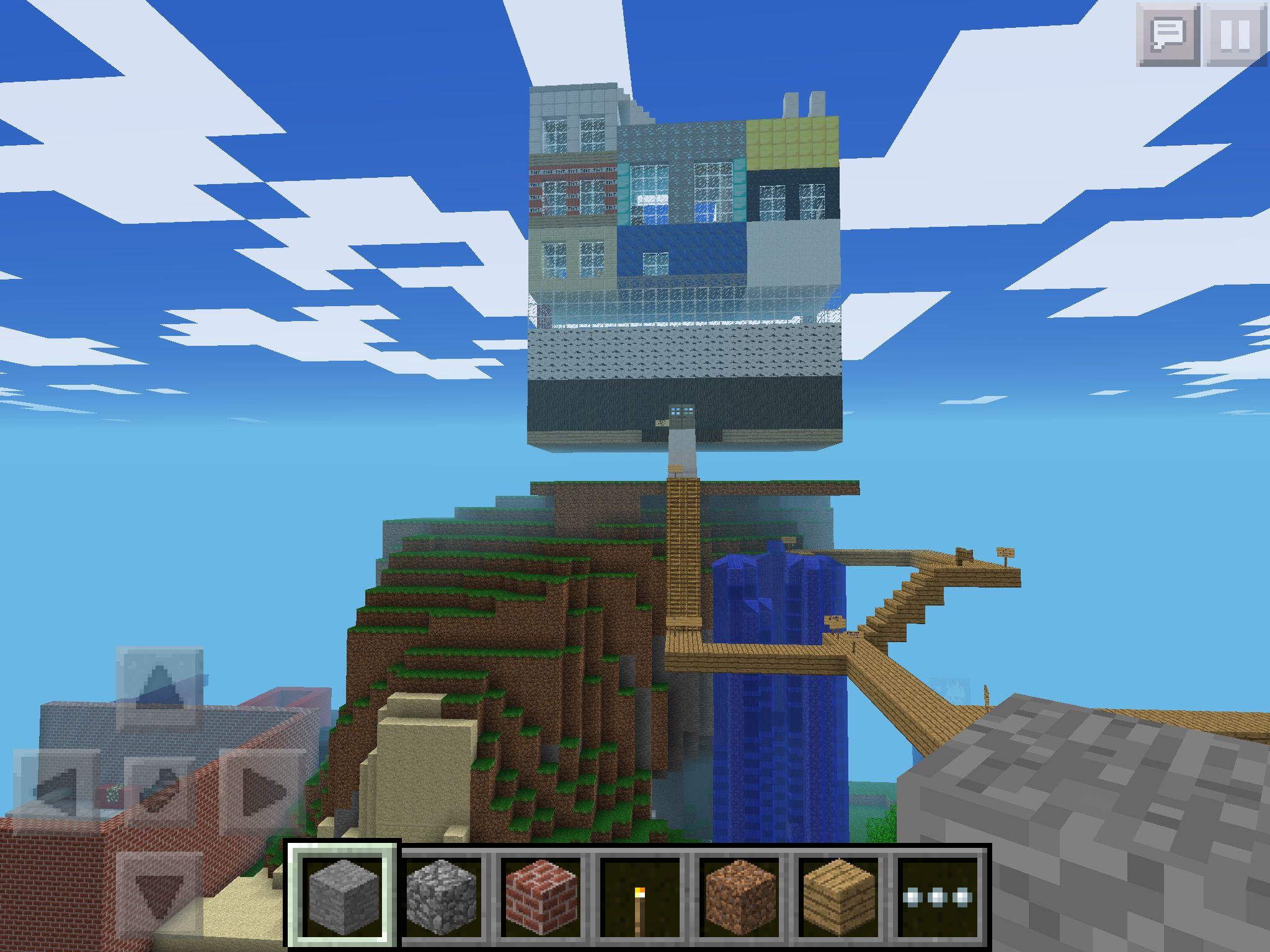 My minecraft PE hotel! Minecraft city, Minecraft