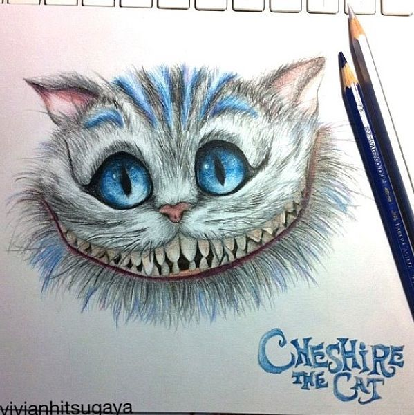 Alice In Wonderland Cheshire Cat Drawing