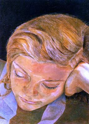 Lucian Freud, Girl reading. This may be my favorite of all!