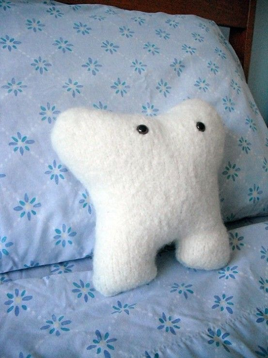 Morris Molar Felted Toothfairy Pillow . Great to give from