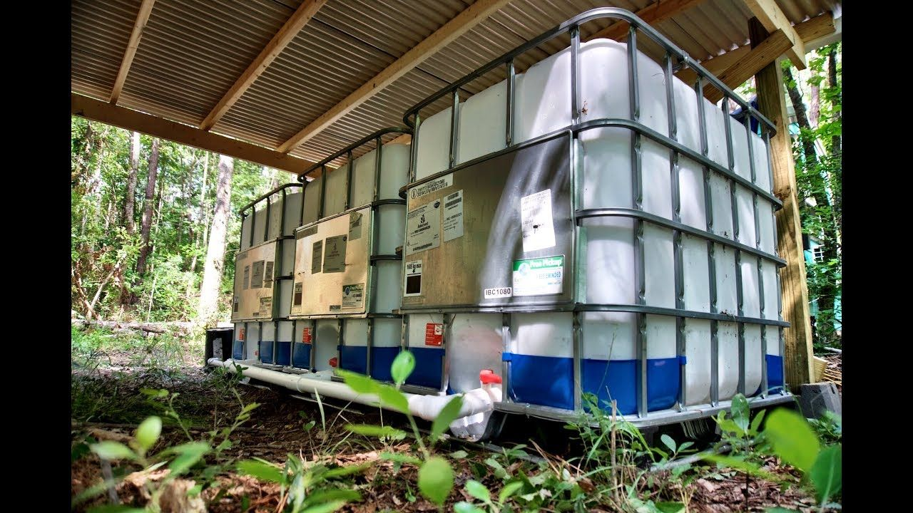 Off Grid Water Catchment System Water Catchment Rain Water Collection System Backyard Landscaping