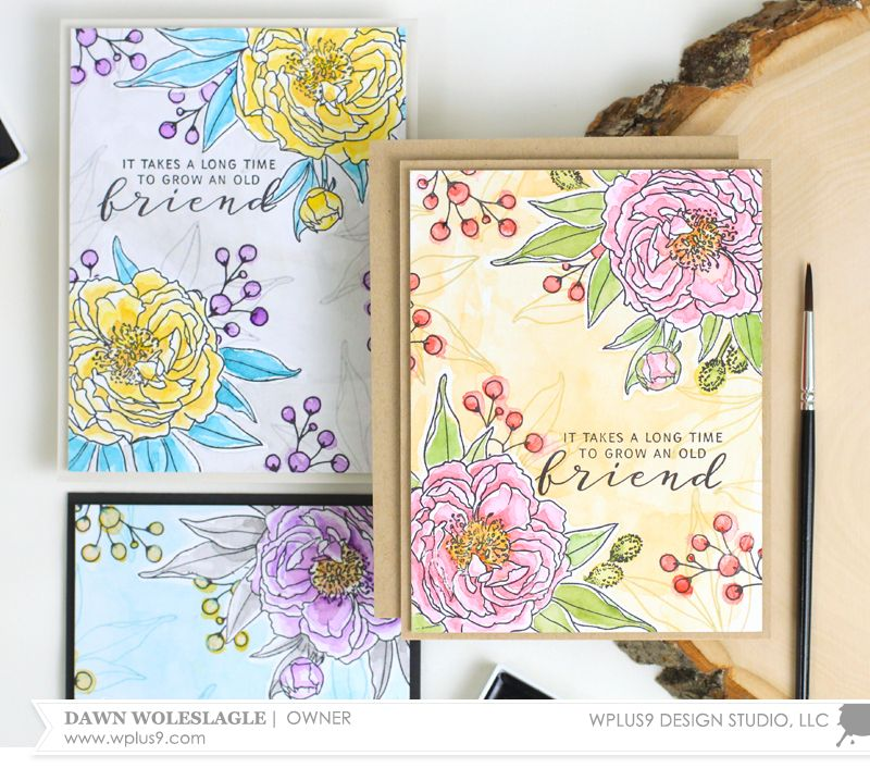 Stamp Away With Me: EASY Watercolored Floral Vignettes with Dawn