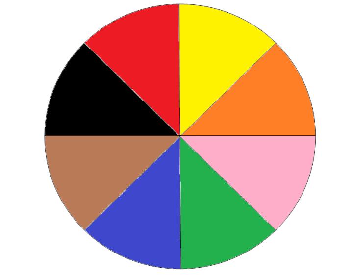 figuras de ruleta para colorear