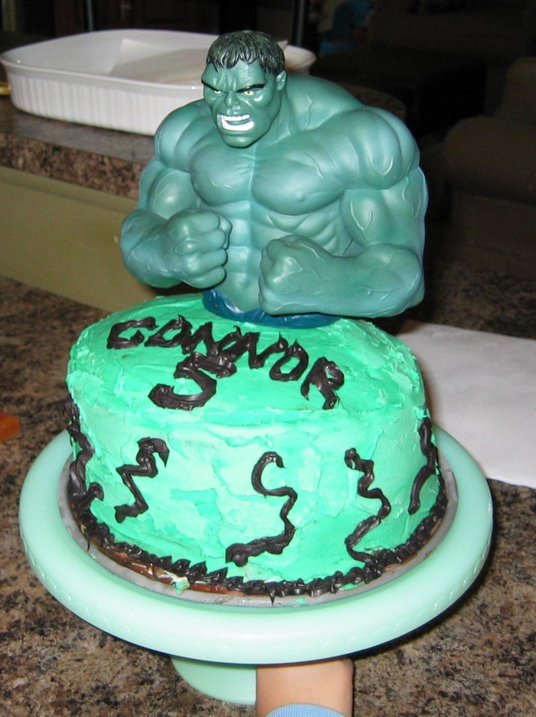 Incredible Hulk Cake Birthday parties Pinterest