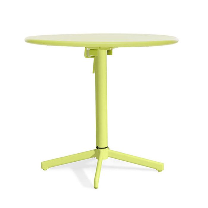 30 Inch Diameter High Folding Round Table Green