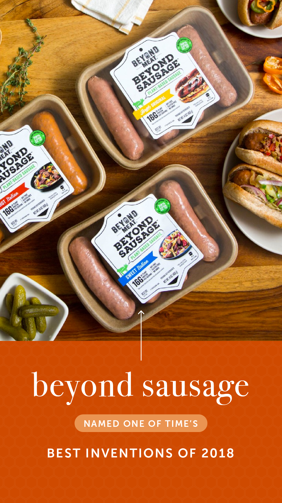 Beyond Sausage Named One Of Time S Best Inventions Of 2018 Delicious Vegan Recipes Creative Gourmet Sausage