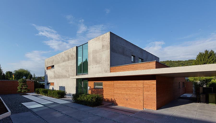 Kubus in sichtbeton architecture pinterest architektur sichtbeton und wohnen - Architektur kubus ...