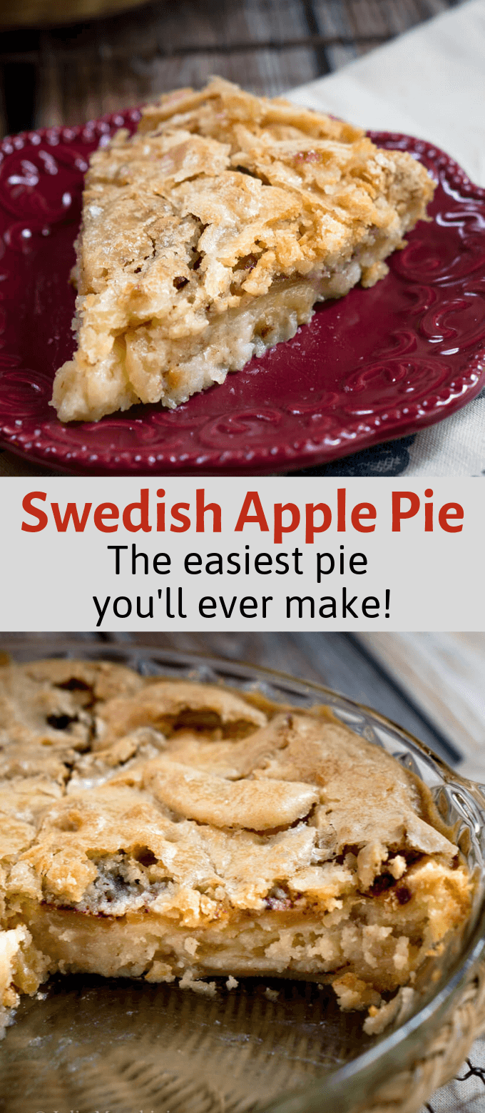 Swedish Apple Pie - The easiest pie you'll ever make This Swedish Apple Pie is just as easy to make as it is delicious to eat. It's the perfect no-fuss pie for an easy dessert or for the beginnerbaker!