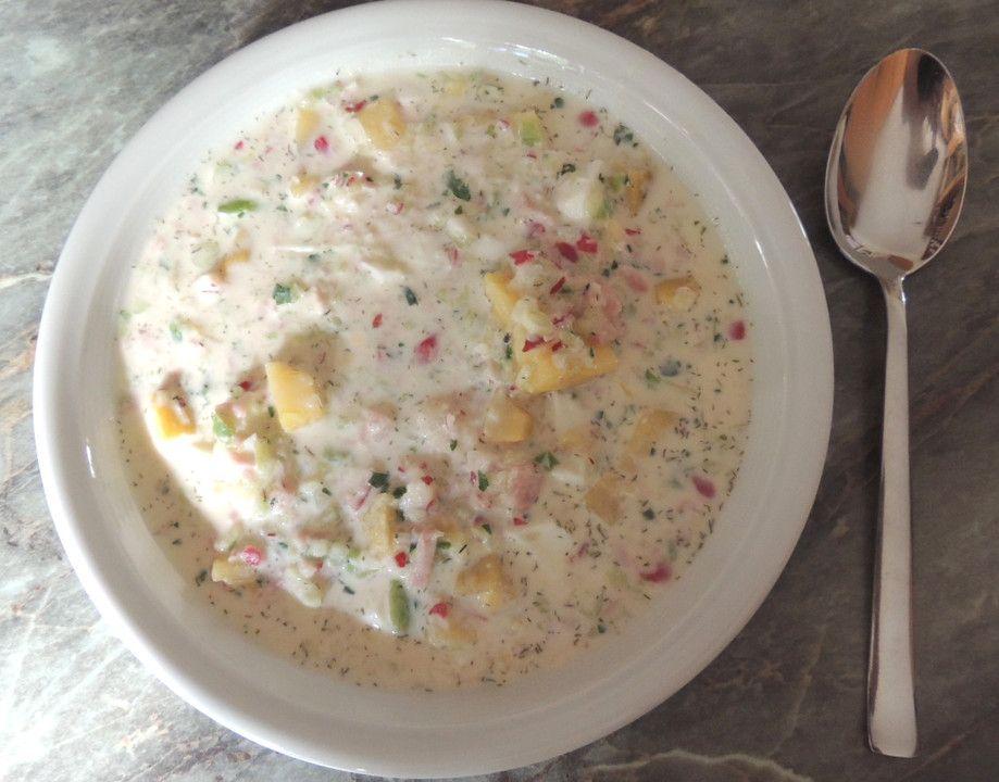 Die beste Okroschka nach Mamas Rezept, ein schmackhaftes Rezept mit Bild aus der Kategorie Eier. 19 Bewertungen: Ø 4,2. Tags: Ei, einfach, Geflügel, Gemüse, Hauptspeise, Kartoffeln, Russland, Schnell, Sommer, spezial, Suppe #okroschkarezept