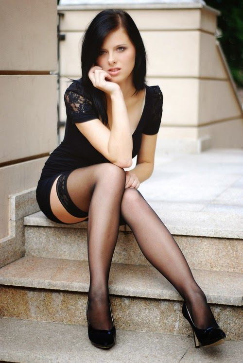 Not trust Skinny legs thigh high stocking heels naked for the