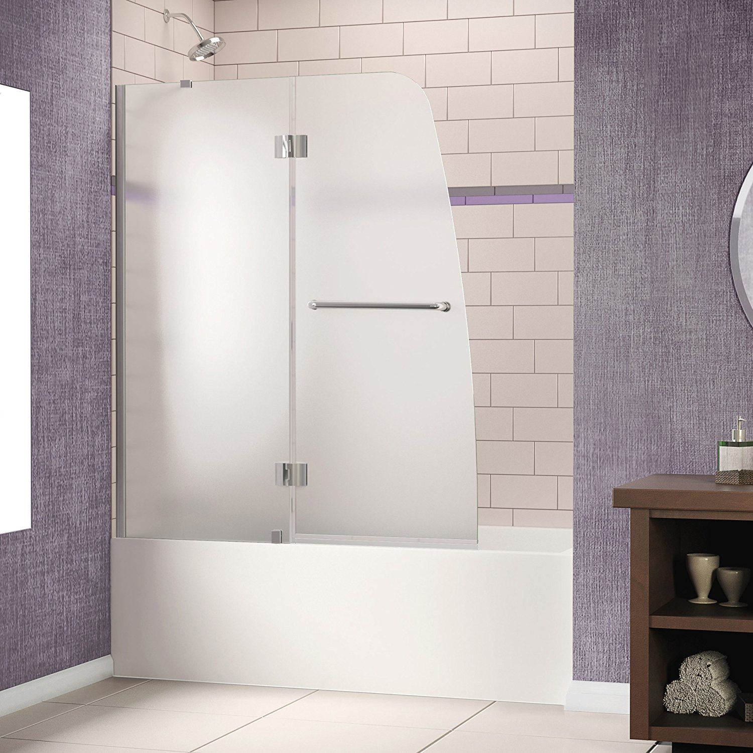 Little big life top 2 frosted glass tub doors around 400 so if dreamline aqua frameless hinged tub door x with frosted chrome frosted glass left hand showers shower doors hinged planetlyrics Image collections