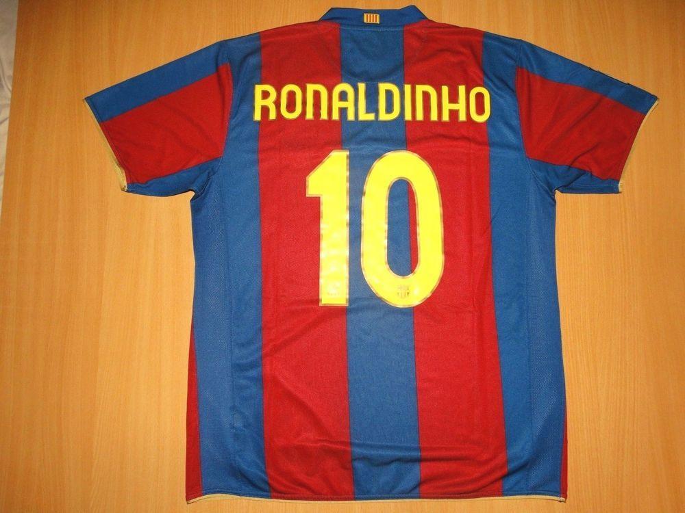 best cheap f1561 fd03c MINT BARCELONA #10 RONALDINHO SHIRT 2007 2008 HOME CAMISETA ...