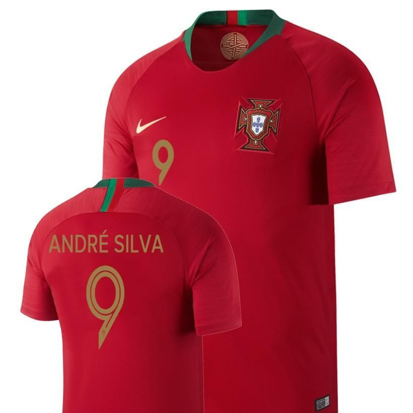 Men  9 Andre Silva Jersey Home Portugal National 2018 FIFA World Cup Fifa World  Cup 8541bb4db