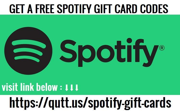 Spotify Gift Cards Generator Free Codes Redeem No Human