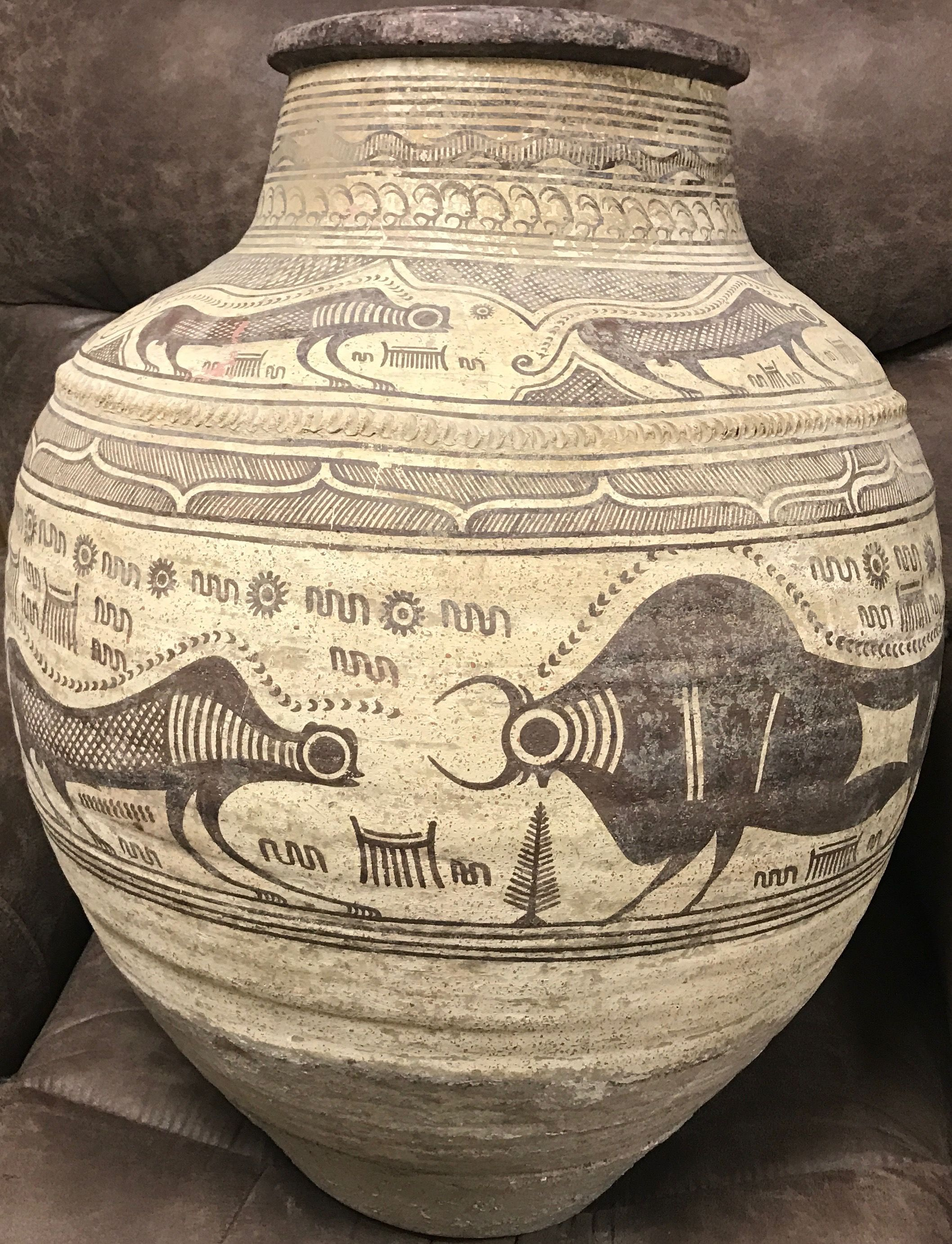 3rd Millenium Bc Indus Valley Painted Vessel Amazingly