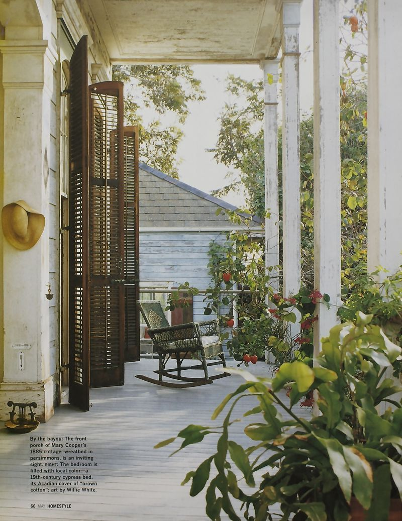 Mary Cooper's wonderful Creole cottage porch, New Orleans ... on French Creole Decorating Ideas  id=87950