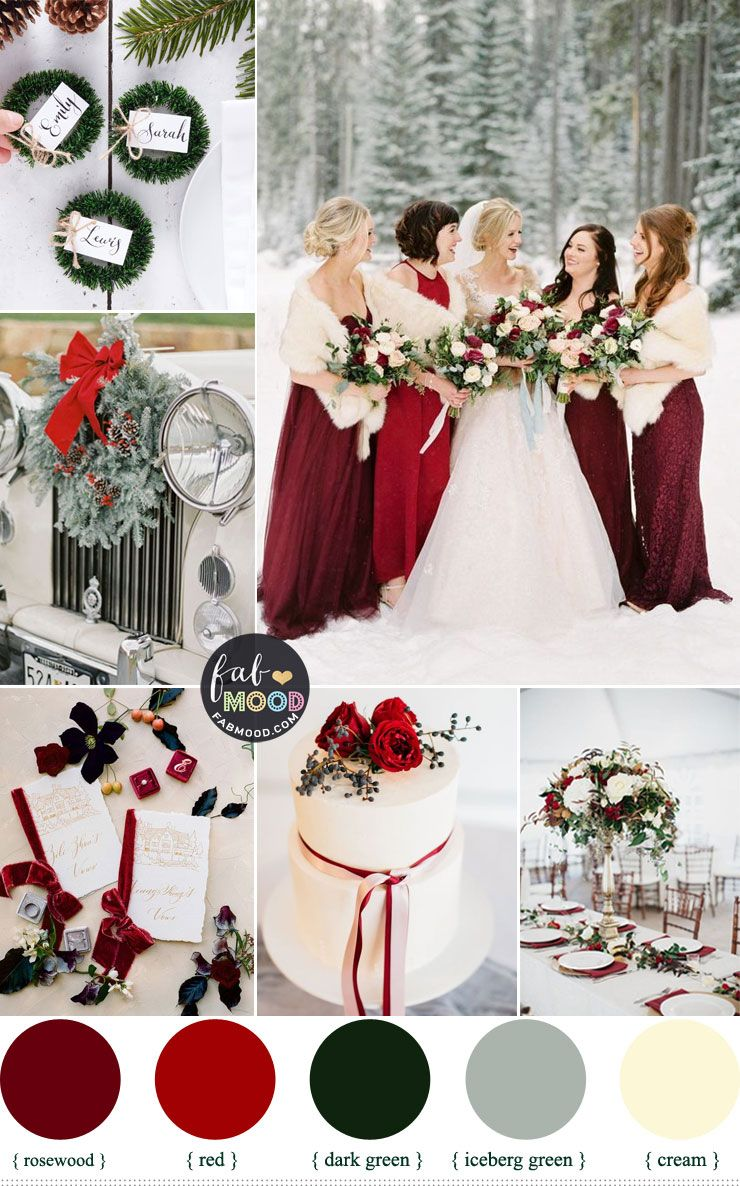Winter Wedding Color 2019 Palettes Shades Of Winter Season