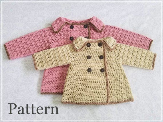 17d373bf7 Crochet PATTERN Baby Girl s Sweater Pattern Sizes 0 - 12 Months Baby ...