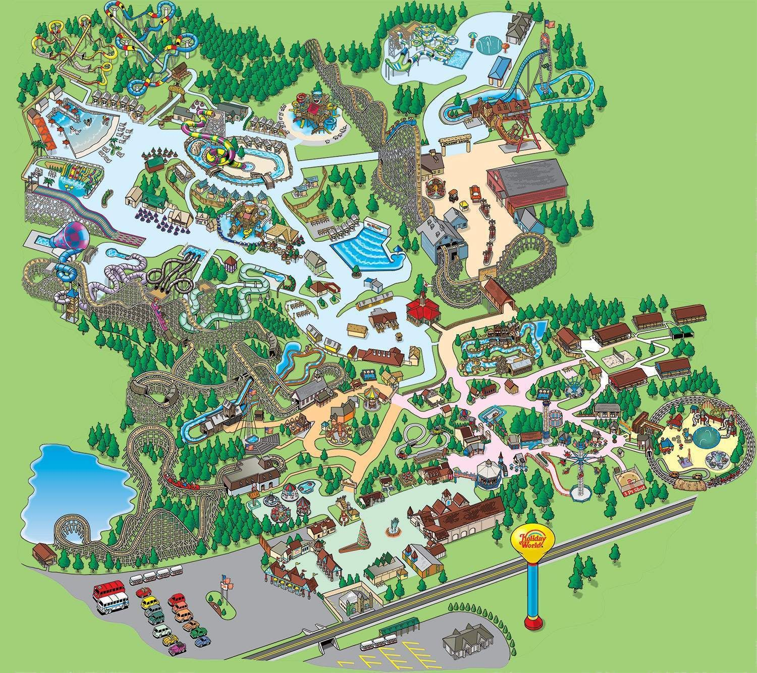 Holiday World Map Splashin' Safari Park Map | Travel: For my thrill seeking youngest