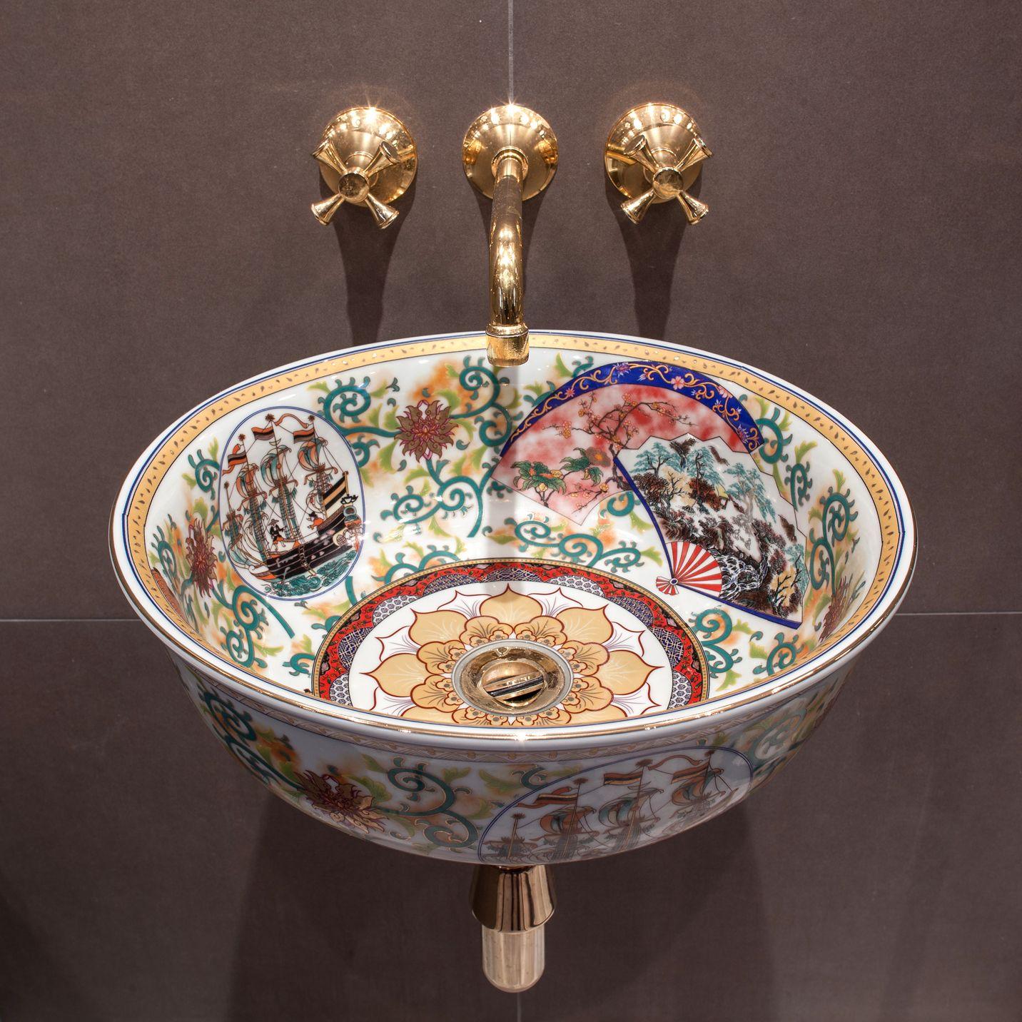 Clarabelle Handfinished Multi Coloured Porcelain Basin