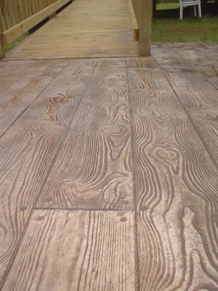 decoratied stamped cement | stamped concrete :: colors & patterns