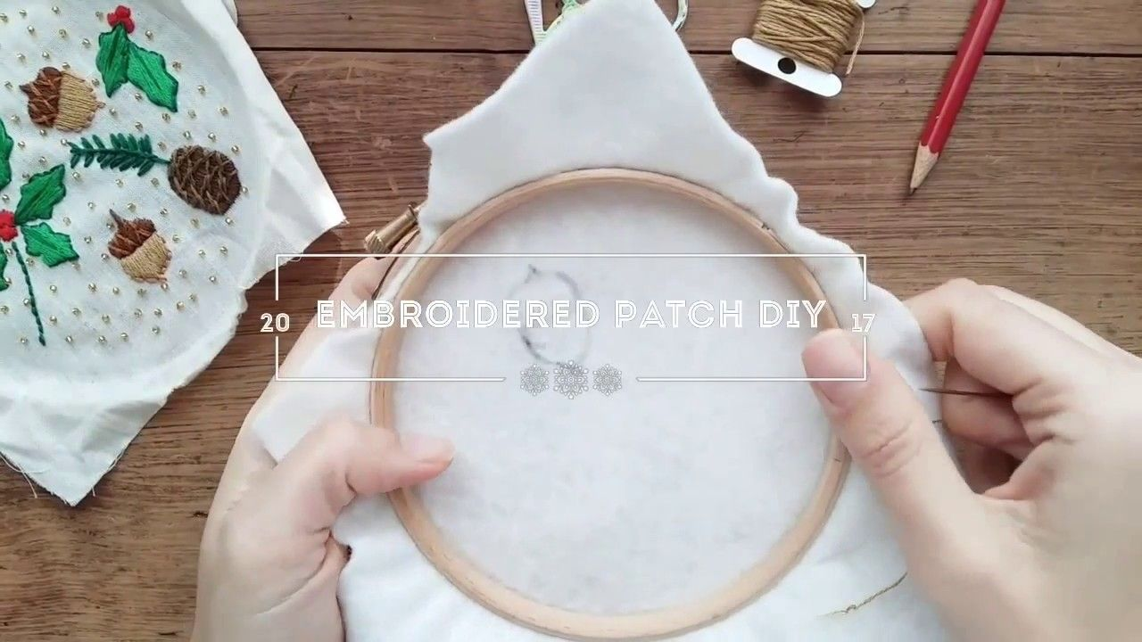 How to make a hand embroidered patch Diy patches