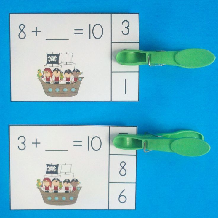Pirate Friends of 10 Addition Clip Cards | Math, Addition facts and ...