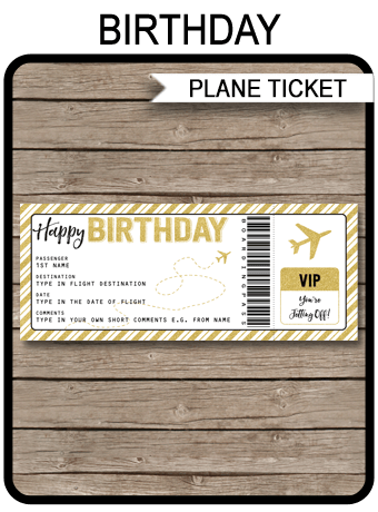 Birthday Boarding Pass Gift Ticket Template Surprise Plane Trip Reveal Surprise Birthday Trip Surprise Trip Reveal Travel Gift Cards