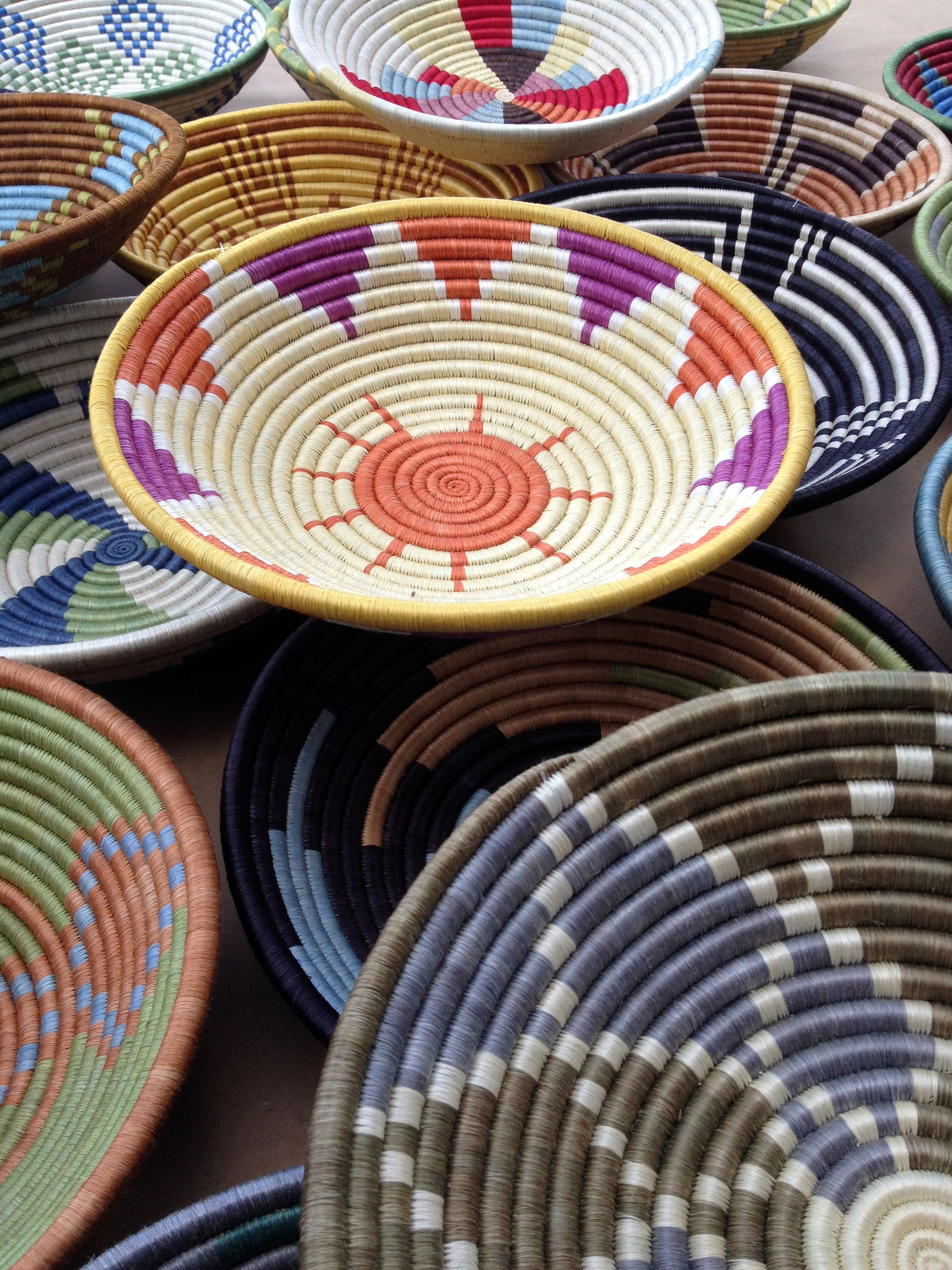 Coil Basket Weaving Patterns : Open bowl peace baskets from rwanda the colors and