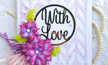 DIY Greetings with Love Card - instant SVG download